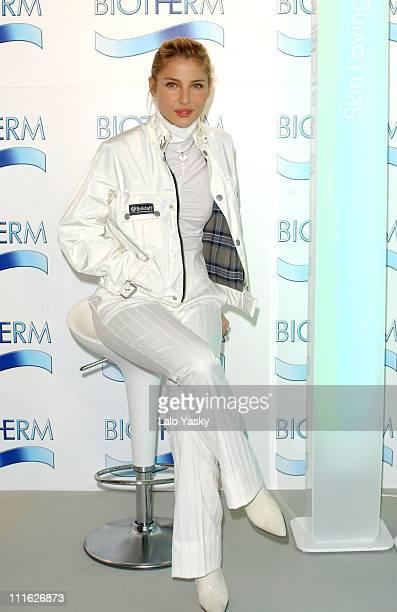 Spanish actress Elsa Pataky presents the new makeup line 'BioTherm'