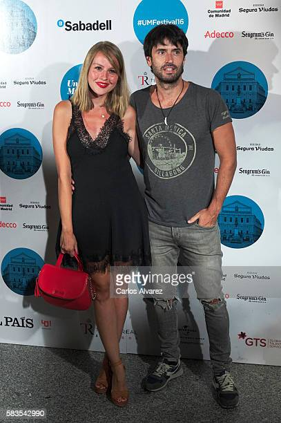 Spanish actress Esmeralda Moya attends the Enrique Bunbury concert at Royal Theater on July 26 2016 in Madrid Spain