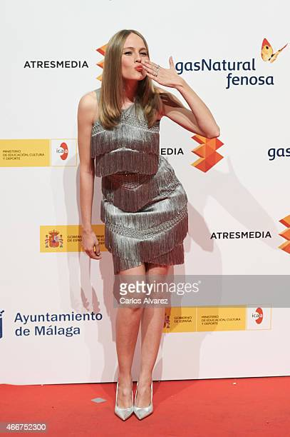 Spanish actress Esmeralda Moya attends the Malaga Film Festival cocktail presentation at Circulo de Bellas Artes on March 18 2015 in Madrid Spain