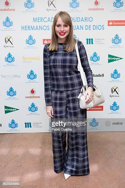 Spanish actress Esmeralda Moya attends the VI San Juan de Dios charity market on December 23 2015 in Madrid Spain