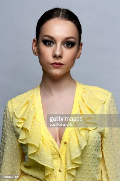 Spanish actress Ester Exposito is photographed on self assignment during 21th Malaga Film Festival 2018 on April 14 2018 in Malaga Spain