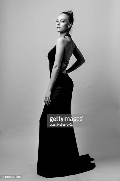 Spanish actress Ester Exposito poses for a portrait session at Teatro Cervantes during 22nd Spanish Film Festival of Malaga on March 23 2019 in...