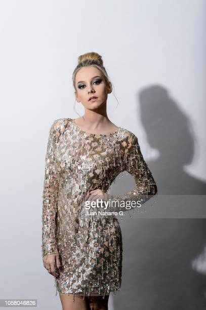 Spanish actress Ester Exposito poses for a portrait session during 63rd SEMINCI International Film Week of Valladolid on October 20 2018 in...