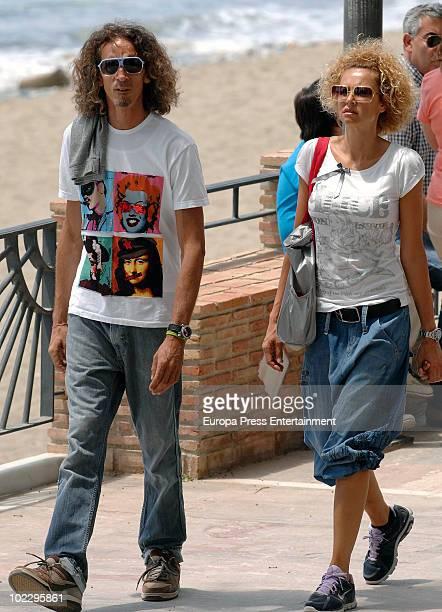 Spanish actress Esther Arroyo and her husband Antonio Navajas are seen sighting on June 22 2010 in Marbella Spain