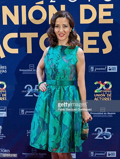 Spanish actress Esther Regina attends XX Union de Actores Awards at Circo Price Theatre on October 31 2011 in Madrid Spain