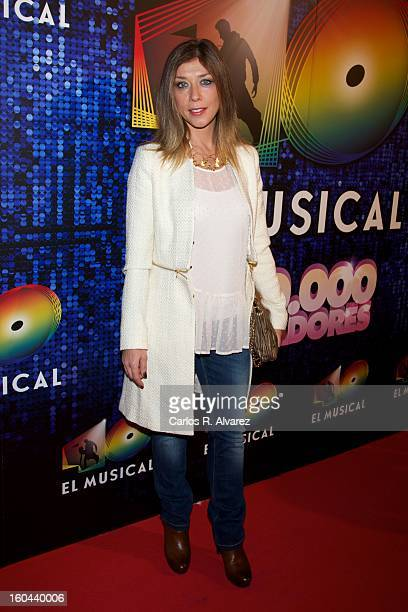 Spanish actress Eva Isanta attends 40 El Musical premiere at the Rialto Theater on January 31 2013 in Madrid Spain