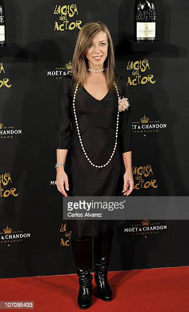 Spanish actress Eva Isanta attends Moet Chandon Charity Auction at Casino de Madrid on November 23 2010 in Madrid Spain