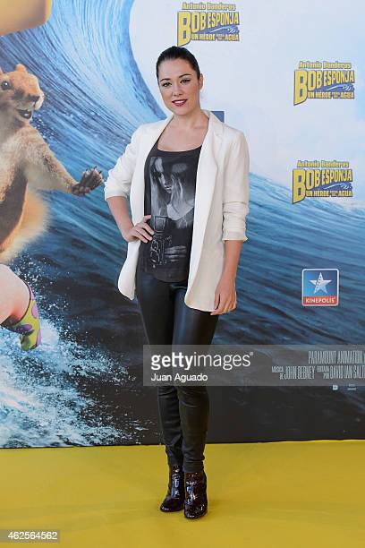 Spanish actress Eva Marciel attends the 'Bob Esponja' Premiere at Kinepolis Cinema on January 31 2015 in Madrid Spain