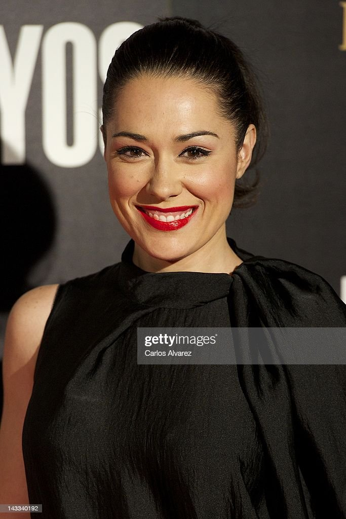 Spanish actress Eva Marciel attends 'The Pelayos' premiere at Fortuny Club on April 24, 2012 in Madrid, Spain.