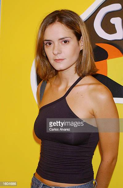 Spanish actress Eva Santolaria arrives for the premiere of the film Gente Pez July 26 2001 at the Capitol cinema in Madrid Spain