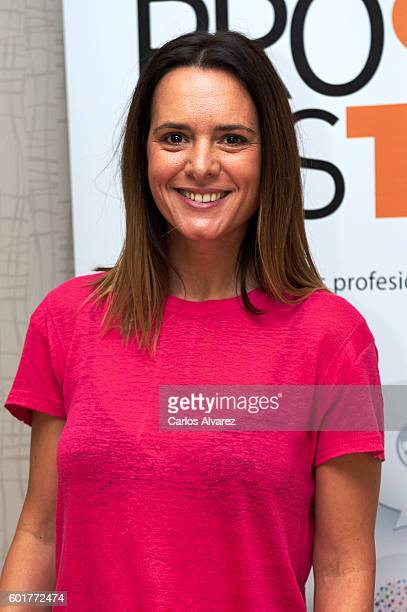 Spanish actress Eva Santolaria attends Fisica o Quimica photocall at Palacio de Congresos during FesTVal 2016 Closing Day on September 10 2016 in...