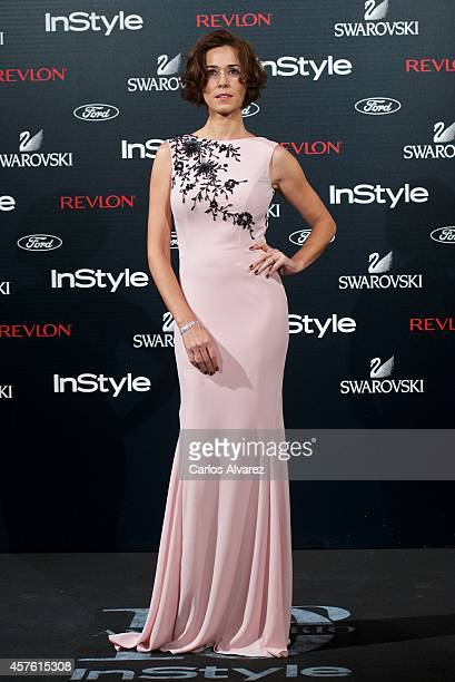Spanish actress Fanny Gautier attends the In Style Magazine 10th Anniversary party at the Melia Fenix Hotel on October 21 2014 in Madrid Spain