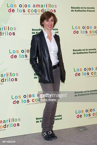 Spanish actress Fanny Gautier attends the Los Ojos Amarillos de los cocdrilos premiere at the Academia de Cine on April 30 2014 in Madrid Spain