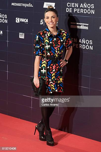 Spanish actress Flora Gonzalez attends the 'Cien Anos de Perdon' premiere at the Capitol cinema on March 1 2016 in Madrid Spain