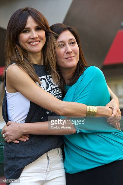 Spanish actress Goya Toledo and Spanish director Belen Macias attend Marsella photocall at the Princesa cinema on July 15 2014 in Madrid Spain