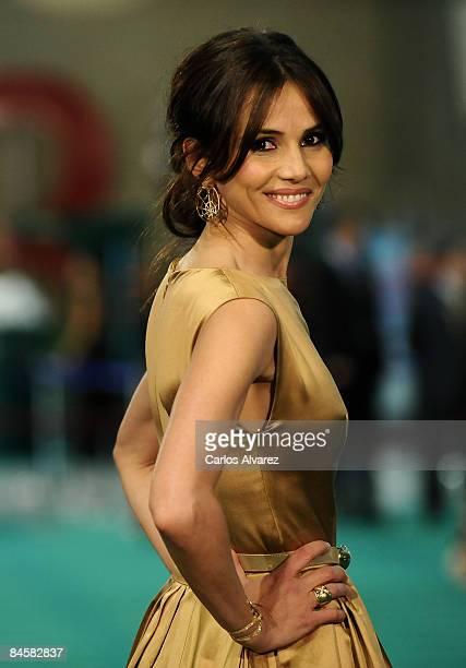 Spanish actress Goya Toledo attends the Goya Cinema Awards 2009 ceremony on February 01 2009 at the Palacio de Congresos in Madrid Spain