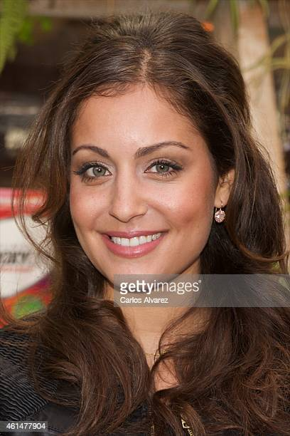 Spanish actress Hiba Abouk presents the new Hydroxycut at the San Anton Market on January 13 2015 in Madrid Spain