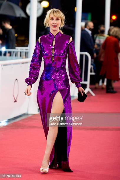 Spanish actress Ingrid Garcia Jonsson attends 'Beginning' premiere during the 68th San Sebastian International Film Festival at the Kursaal Palace on...