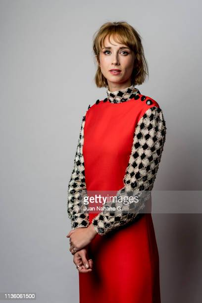 Spanish actress Ingrid GarciaJonsson poses for a portrait session at Teatro Cervantes during 22nd Spanish Film Festival of Malaga on March 15 2019 in...