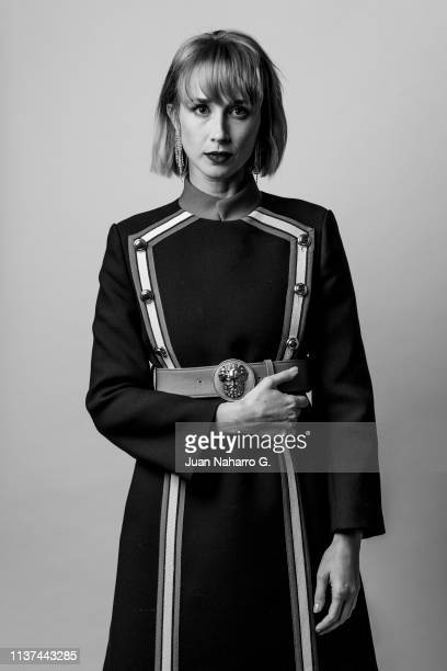 Spanish actress Ingrid GraciaJonsson poses for a portrait session at Teatro Cervantes during 22nd Spanish Film Festival of Malaga on March 21 2019 in...