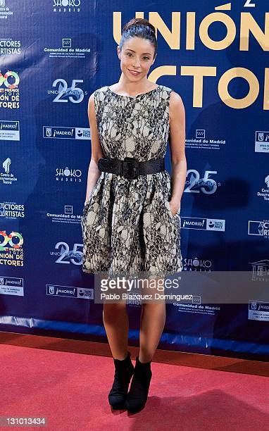 Spanish actress Ingrid Rubio attends XX Union de Actores Awards at Circo Price Theatre on October 31 2011 in Madrid Spain
