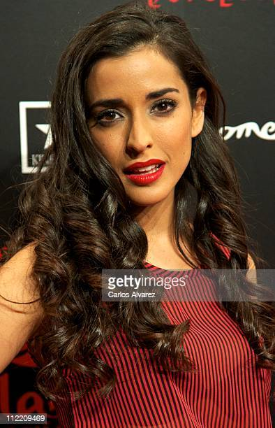Spanish actress Inma Cuesta attends Aguila Roja premiere at Kinepolis Cinema on April 14 2011 in Madrid Spain