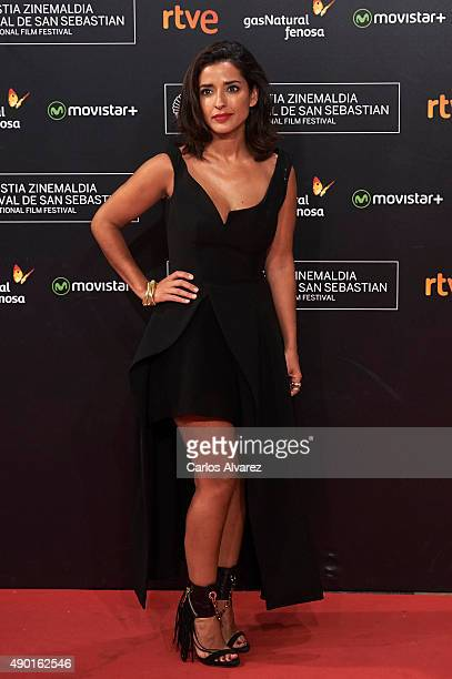 Spanish actress Inma Cuesta attends the closing ceremony red carpet of the 63rd San Sebastian International Film Festival at the Kursaal Palace on...