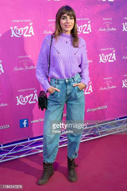 Spanish actress Irene Arcos attends the Cirque Du Soleil 'Kooza' premiere on October 29, 2019 in Madrid, Spain.