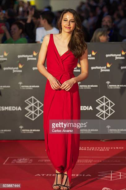 Spanish actress Irene Escolar attends 'Rumbos' premiere at the Cervantes Theater during the 19th Malaga Film Festival on April 24 2016 in Malaga Spain