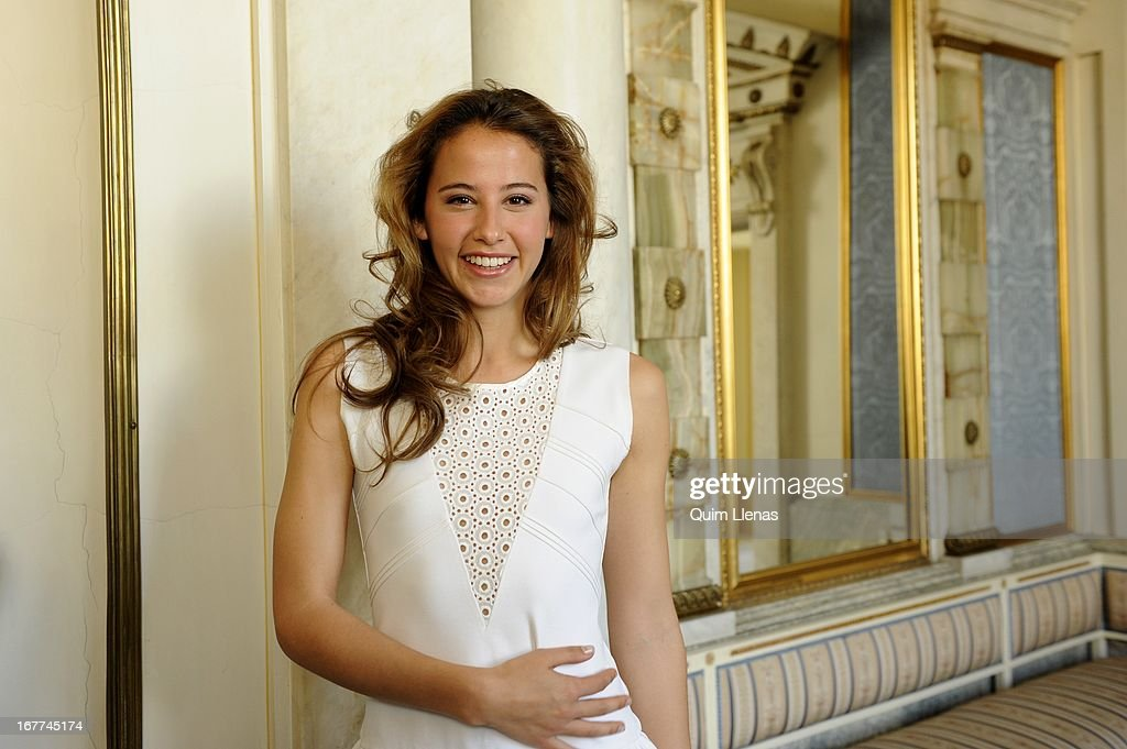 Spanish actress Irene Escolar poses for a photo shoot after the press conference for 'La Chunga' play at Espanol Theatre on April 24, 2013 in Madrid, Spain.