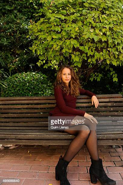 Spanish actress Irene Escolar poses for a photo shoot after the press conference for the play 'El Publico' by Federico Garcia Lorca at the Abadia...