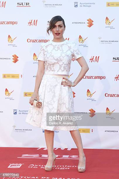 Spanish actress Irene Montala attends 'La Deuda' premiere at the Cervantes Theater during the 18th Malaga Film Festival on April 18 2015 in Malaga...