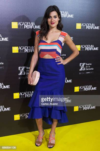 Spanish actress Iris Lezcano attends the 'Academia del Perfume' awards 2017 at the Zarzuela Teather on May 22 2017 in Madrid Spain