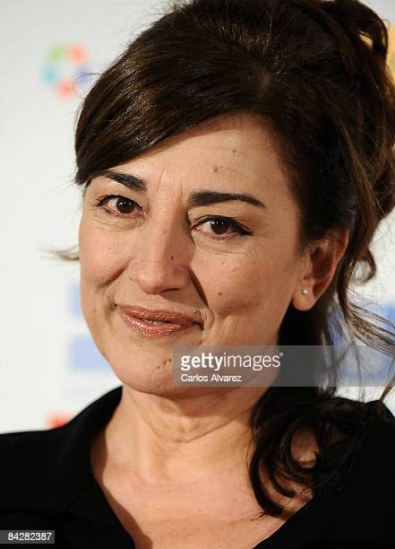 Spanish actress Isabel Ordaz attends 14th Jose Maria Forque Cinema Awards photocall on January 14 2009 at Palacio de Congresos in Madrid Spain