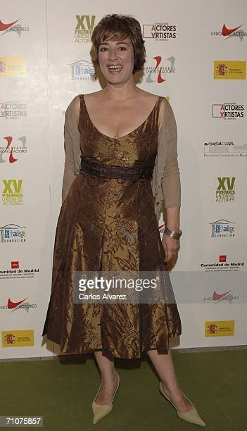 Spanish actress Isabel Ordaz attends the 15th Actors Union Awards Ceremony at Palacio de Congresos May 29 2006 in Madrid Spain