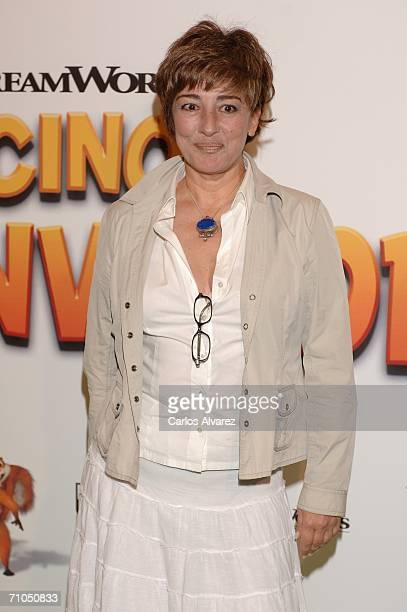 Spanish actress Isabel Ordaz attends the Spanish Premiere of 'Over The Hedge' at the Palacio de la Musica Cinema on May 25 2006 in Madrid Spain