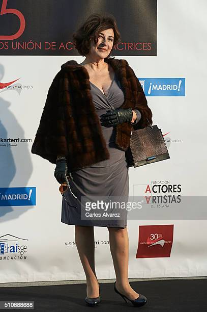 Spanish actress Isabel Ordaz attends the Union de Actorres awards 25th anniversary at the Cibeles Palace on February 17 2016 in Madrid Spain