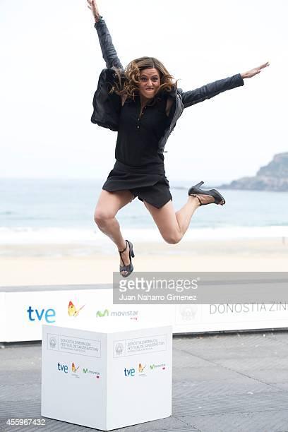 Spanish actress Itziar Ituno attends the 'Loreak' photocall at the Kursaal Palace during the 62nd San Sebastian International Film Festival on...