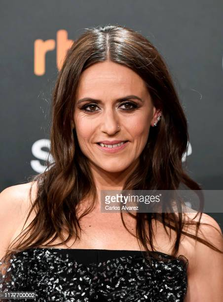 Spanish actress Itziar Ituño attends the red carpet on the closure day of 67th San Sebastian International Film Festival on September 28 2019 in San...