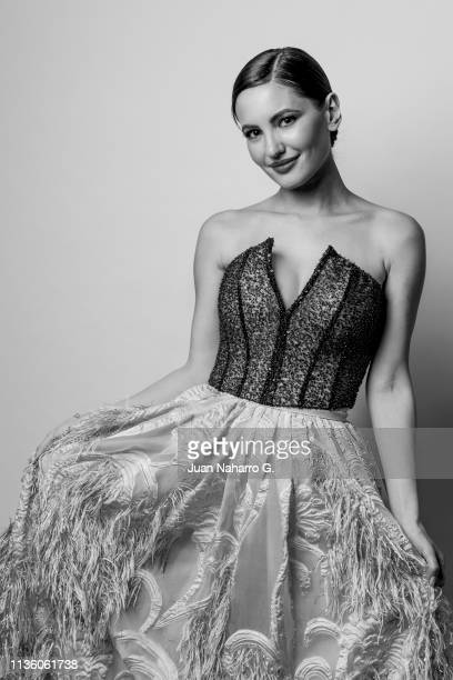 Spanish actress Ivana Baquero poses for a portrait session at Teatro Cervantes during 22nd Spanish Film Festival of Malaga on March 15 2019 in Malaga...
