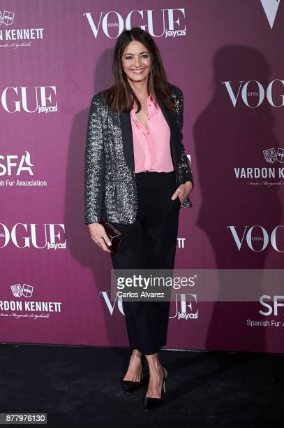 Spanish actress Jose Toledo attends the 'Vogue Joyas' awards 2017 at the Santona Palace on November 23 2017 in Madrid Spain