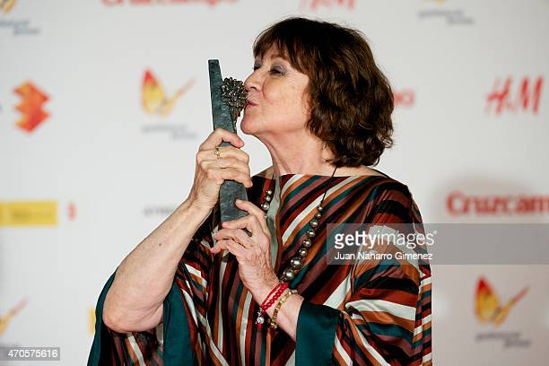 Spanish actress Julieta Serrano attends the 'Requisitos Para Ser Una Persona Normal' premiere during the 18th Malaga Spanish Film Festival at...