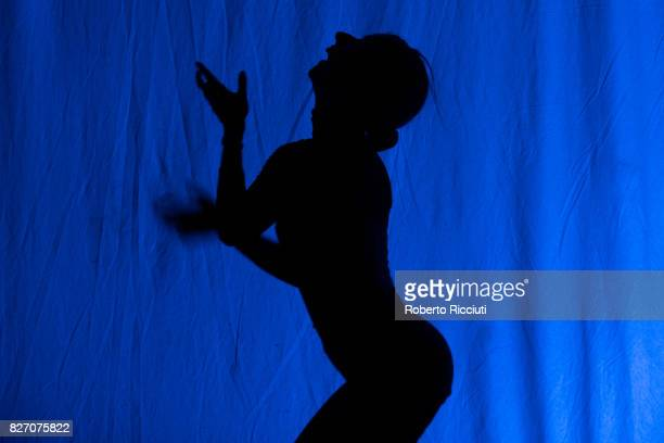 Spanish actress Lana Biba performs 'Losing It' on stage during the annual Edinburgh Festival Fringe at Zoo Venues on August 6 2017 in Edinburgh...