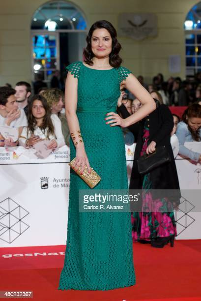 Spanish actress Ledicia Sola attends the Amor en su Punto premiere during the 17th Malaga Film Festival at the Cervantes Theater on March 23 2014 in...