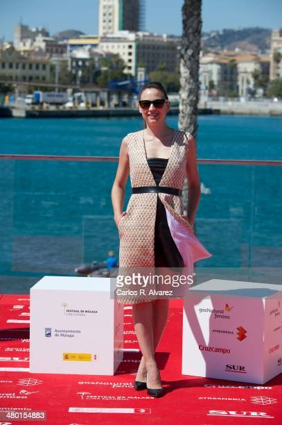 Spanish actress Leonor Watling attends the Amor en su Punto photocall during the 17th Malaga Film Festival 2014 Day 3 on March 23 2014 in Malaga Spain