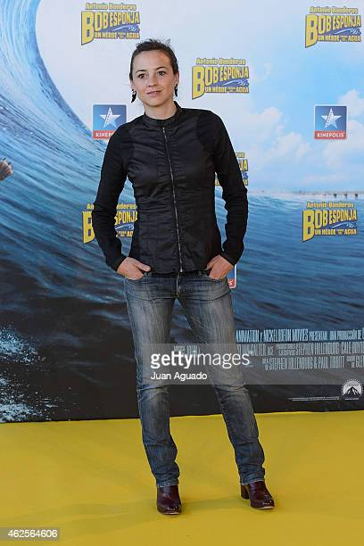 Spanish actress Leonor Watling attends the 'Bob Esponja' Premiere at Kinepolis Cinema on January 31 2015 in Madrid Spain