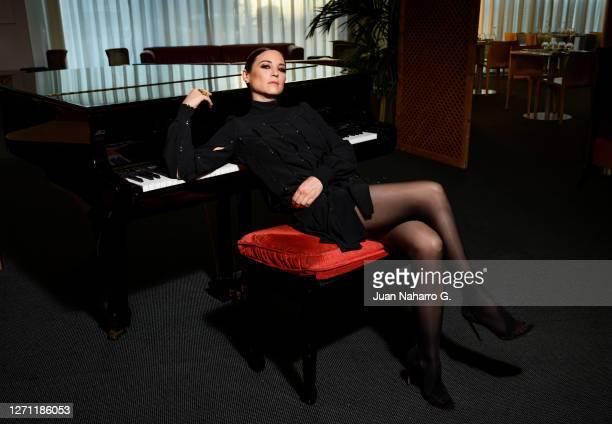 Spanish actress Leonor Watling poses for a portrait session during FesTVal 2020 on September 04, 2020 in Vitoria-Gasteiz, Spain.
