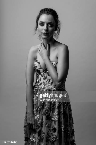 Spanish actress Leticia Dolera poses for a portrait session at Teatro Cervantes during 22nd Spanish Film Festival of Malaga on March 21 2019 in...