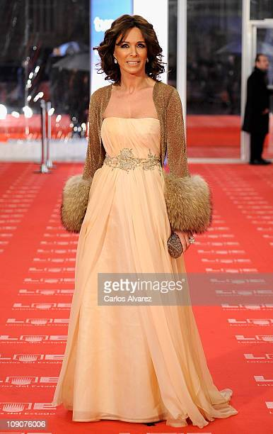 Spanish actress Lidia Bosch arrives to the 2011 edition of the Goya Cinema Awards ceremony at Teatro Real on February 13 2011 in Madrid Spain