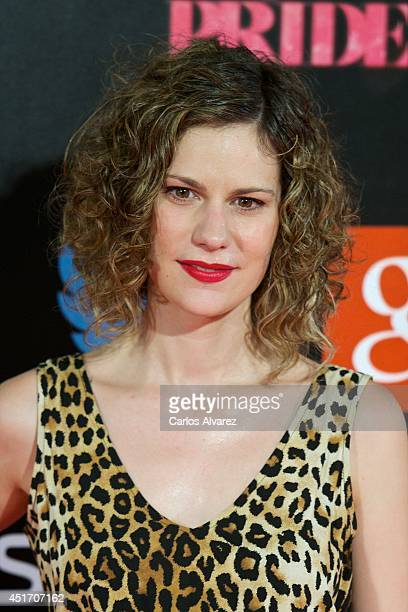 Spanish actress Lidia San Jose attends the Shangay Pride concert at the Vicente Calderon stadium on July 4 2014 in Madrid Spain